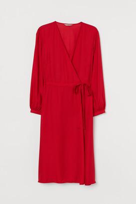 H&M H&M+ V-neck Wrap Dress