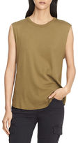 Vince Pima Cotton Shirttail Tank Shell