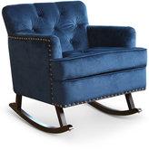 Aydan Nailhead Rocking Chair, Quick Ship