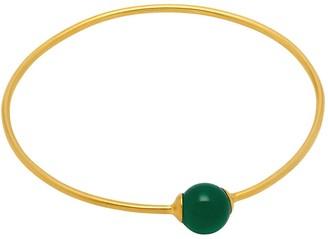 Mirabelle Jewellery Orbit Green Onyx Bangle
