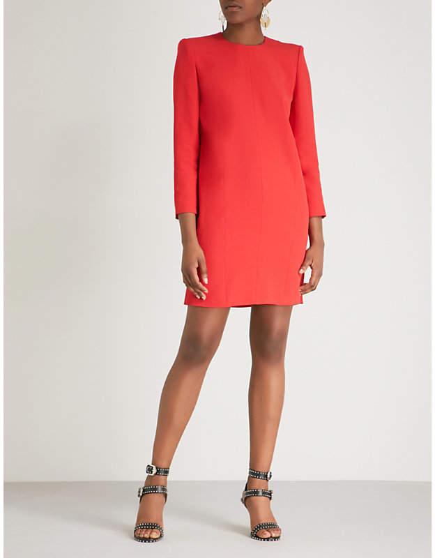 Givenchy Shoulder pad crepe mini dress