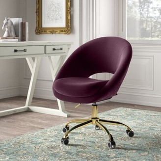 Kelly Clarkson Home Lourdes Velvet Task Chair Upholstery Color: Fuchsia