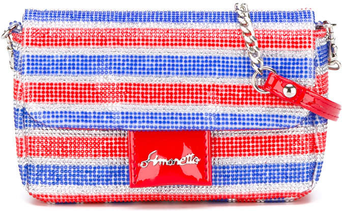Simonetta striped shoulder bag
