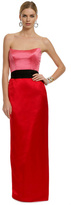 Chris Benz Red Qui Contrast Gown