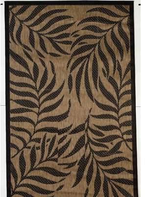 "Caenada Tropical Brown/Black Indoor/Outdoor Area Rug Bay Isle Home Rug Size: Rectangle 4'11"" x 7'10"""