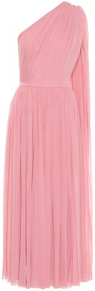 Alexander McQueen One-shoulder tulle midi dress
