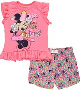 "Disney Minnie Mouse Little Girls' Toddler ""Just Call Me Cutie!"" 2-Piece Outfit"