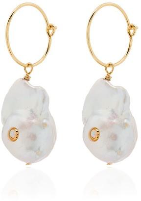 Anni Lu Pearl-Embellished Hoop Earrings