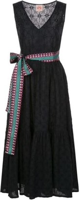Le Sirenuse Evelin Embroidered Midi Dress