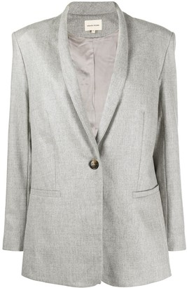 Loulou Single-Breasted Wool Blazer
