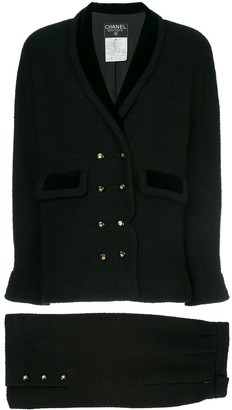 Chanel Pre Owned Narrow Double Breasted Skirt Suit
