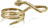 Bernard Delettrez Two Fingers Bronze Ring w/3 Laps Snake