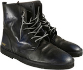 Golden Goose Deluxe Brand Black Leather Lace-up Ankle Boots
