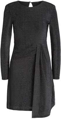 Set Fashion - Wrap Look Shimmering Dress - 36 - Black