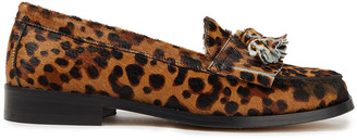 IRO Thasos Tasseled Printed Calf Hair Loafers