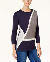 Alfred Dunner Colorblocked Tunic Sweater