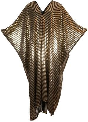 Jennafer Grace Gilda Gold Stripe Sequin Caftan