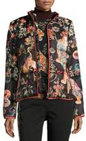 Etro Tiger-Print Quilted Puffer Jacket, Ivory