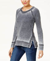 Style&Co. Style & Co Distressed Sweatshirt, Created for Macy's