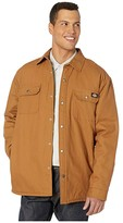 Dickies Plaid Lined Shirt Jacket (Brown Duck) Men's Clothing
