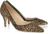 Valentina leopard-print calf hair pumps