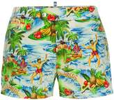 DSQUARED2 Hawaii print swim shorts