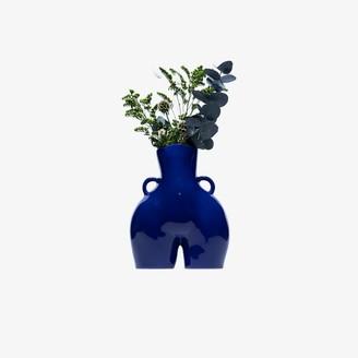 Anissa Kermiche Blue Love Handles porcelain vase