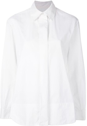 Saint Laurent Pre-Owned concealed fastening shirt