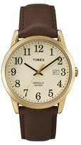 Timex Men's Easy Reader® Watch with Leather Strap - Gold/Brown TW2P75800JT