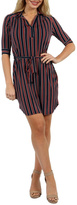 24/7 Comfort Apparel Paris Stripe Dress