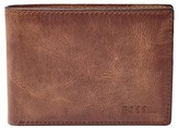 Fossil Men's 'Derrick' Leather Front Pocket Bifold Wallet - Brown