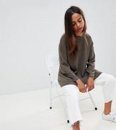 Asos DESIGN Petite oversize jumper in fine knit