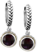 Effy Balissima by Garnet Drop Earrings (4-3/4 ct. t.w.) in Sterling Silver and 18k Gold