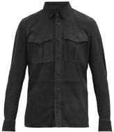 Ralph Lauren Purple Label Barron Lambskin-suede Overshirt - Mens - Grey