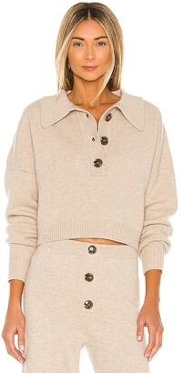 Divine Heritage x REVOLVE Cropped Collared Henley