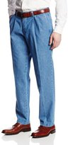 Lee Men's Stain Resistant Relaxed-Fit Pleated Denim Pant