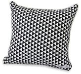 Caden Lane Deco Square Throw Pillow in Black Triangles