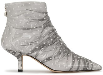 Midnight 00 Polka Dot Ankle Boots