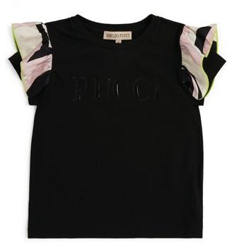 Emilio Pucci Junior Logo Frilled-Sleeve T-Shirt (4-14 Years)
