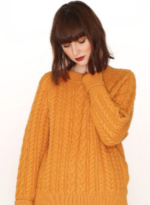 PepaLoves Cables Warm Jumper In Mustard - S