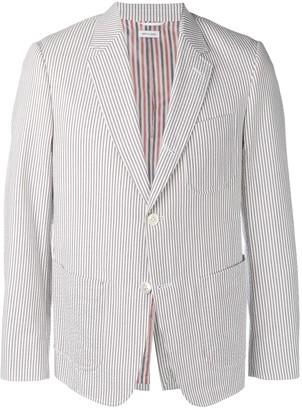 Thom Browne Patch Pocket Seersucker Sport Coat