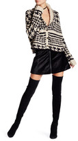 Free People Velvet Back Zip Mini Skirt