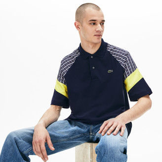 Lacoste Men's LIVE Loose Fit Patchwork Petit Pique Polo