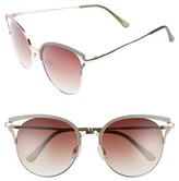 BP Women's 55Mm Colored Round Sunglasses - Mustard/ Gold