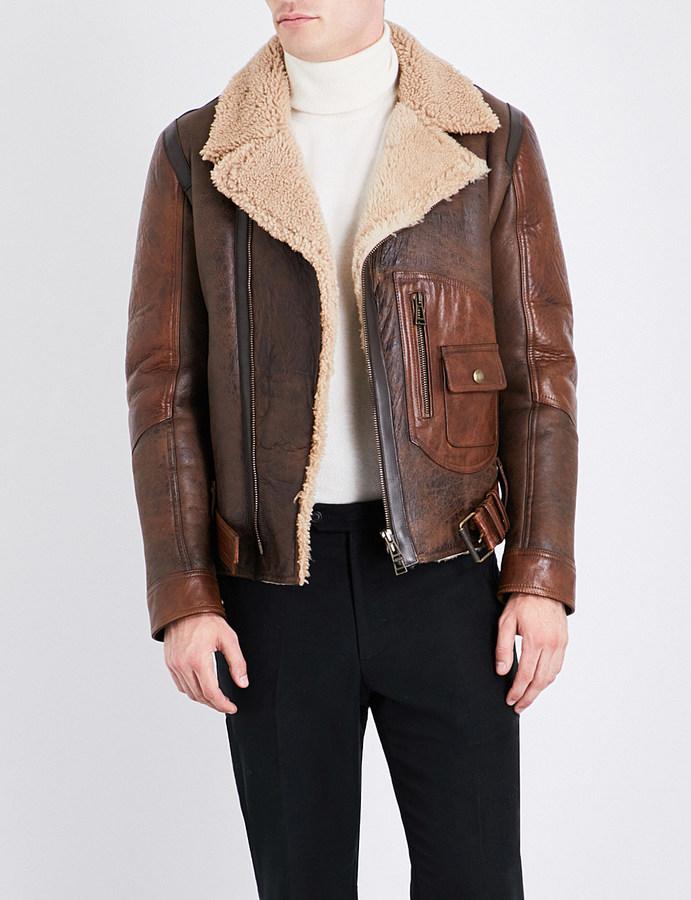 Belstaff Danescroft shearling leather jacket