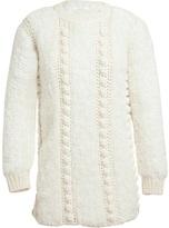 Chloé Oversized Fluffy Arran Knitted Jumper