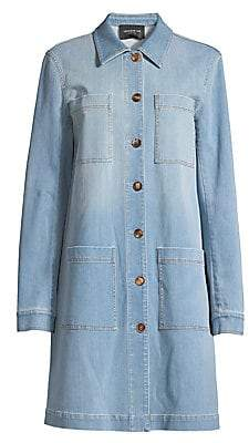 Lafayette 148 New York Women's Corinthia Prestige Mid-Length Denim Jacket
