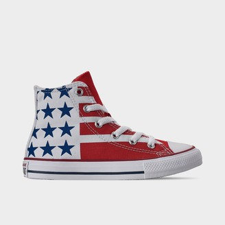 Converse Big Kids' Chuck Taylor Stars and Stripes High Top Casual Shoes