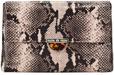 Elaine Turner Designs Belia Python-Print Clutch Bag