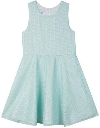 Badgley Mischka Sleeveless Lace Dress